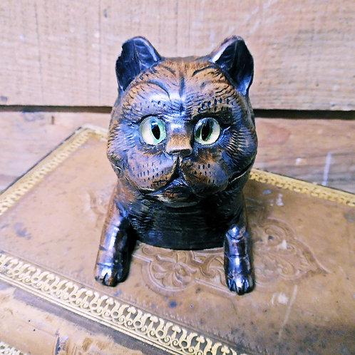 Antique Cat Inkwell