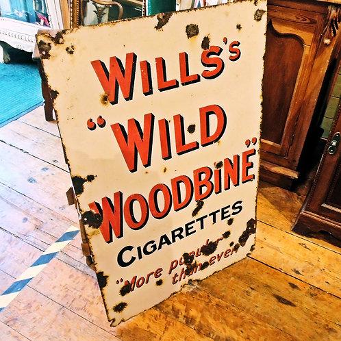 "Wills ""Wild Woodbine"" Sign"