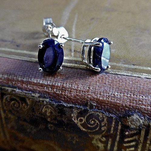 Gold & Sapphire Earrings.