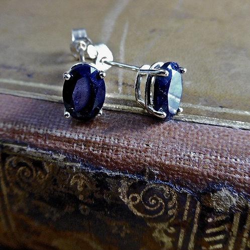 Gold & Sapphire Earrings.