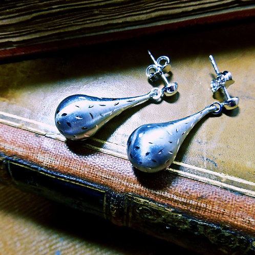 Silver Drop Earrings