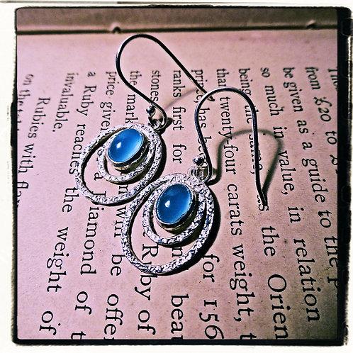 Silver & Blue Calcite Earrings