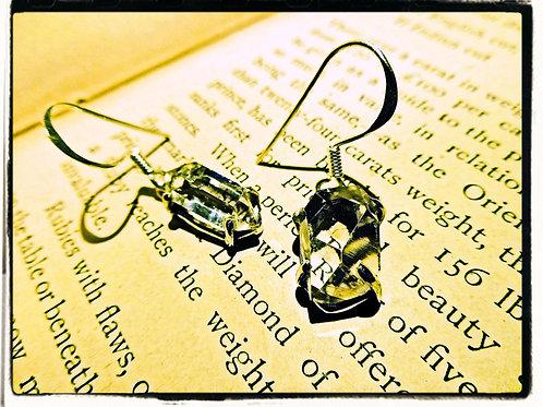 Silver & Herkimer Diamond Earrings