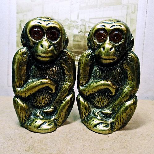 Pair Of Brass Monkeys