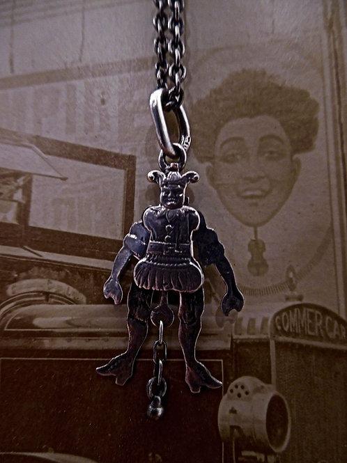 Victorian Novelty Silver Jester Pendant