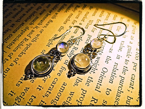 Silver & Moonstone Earrings