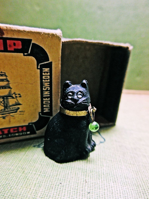 Antique Black Cat