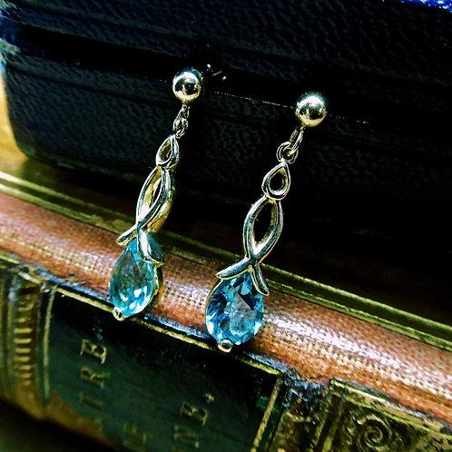Gold & Topaz Earrings