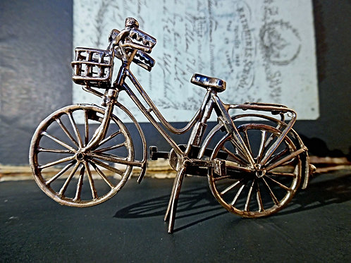 Novelty Silver Bicycle