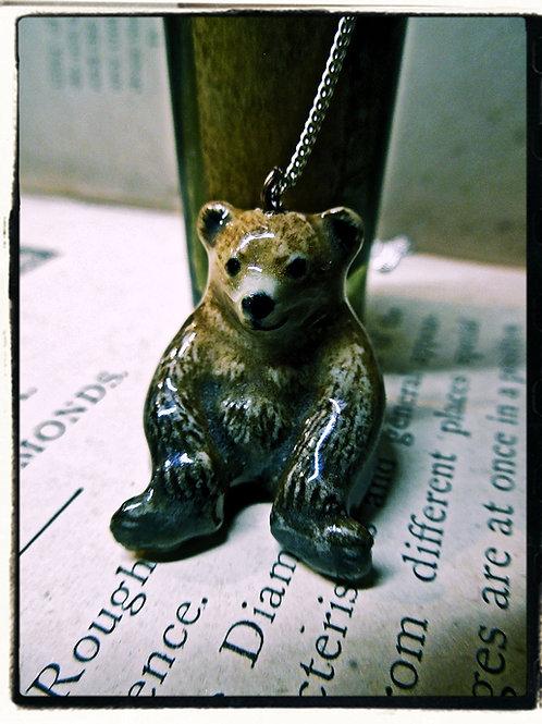 Miniature Bear Necklace