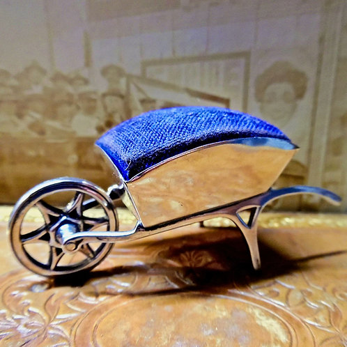 Silver Wheelbarrow Pin Cushion