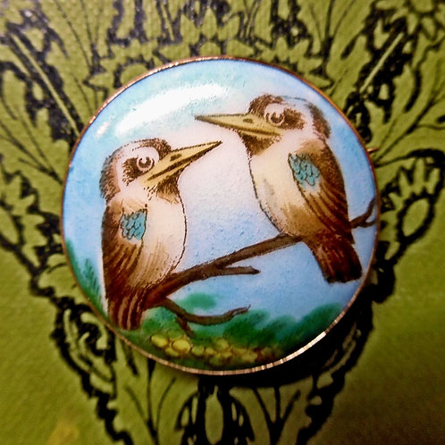 Antique Kookaburra Brooch