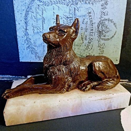Vintage Bronze Dog