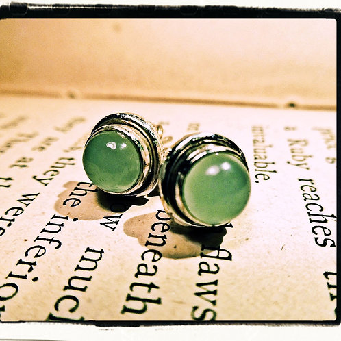 Silver & Calcite Earrings