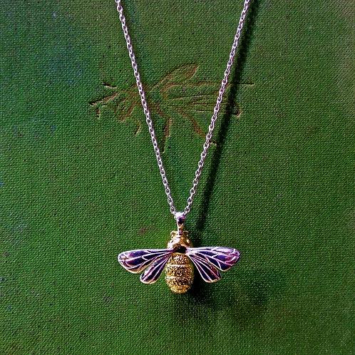 "Silver ""Queen Bee"" Necklace"