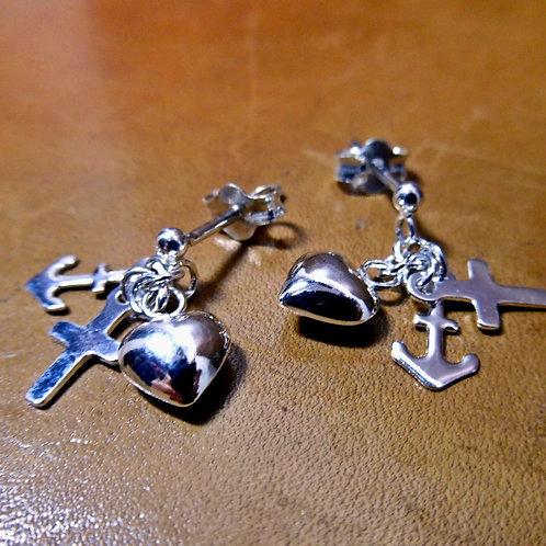 Faith, Hope & Charity Earrings