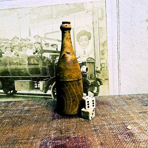 Victorian Treen Bottle Dice Shaker