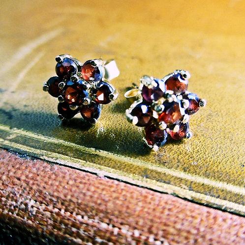 Gold & Garnet Earrings