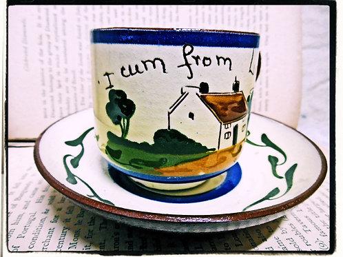 Devon Pottery Cup & Saucer