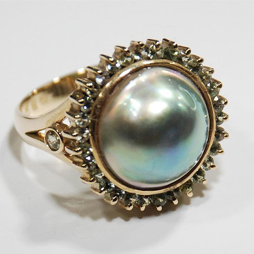 Abalone Pearl ring