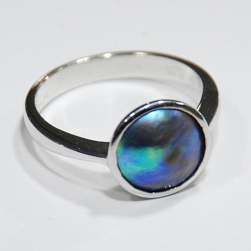 Abalone Paua pearl ring