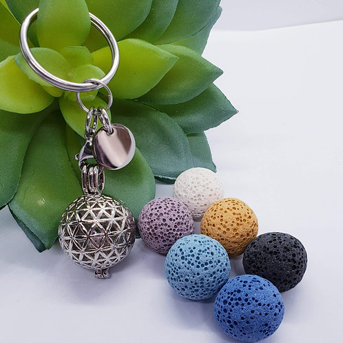 Lava Stone Diffuser Key Ring