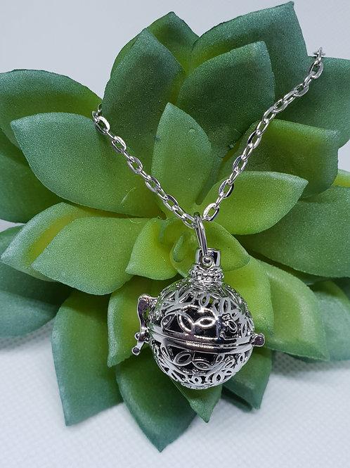 Aromatherapy Necklace - 'Filigree Sphere'