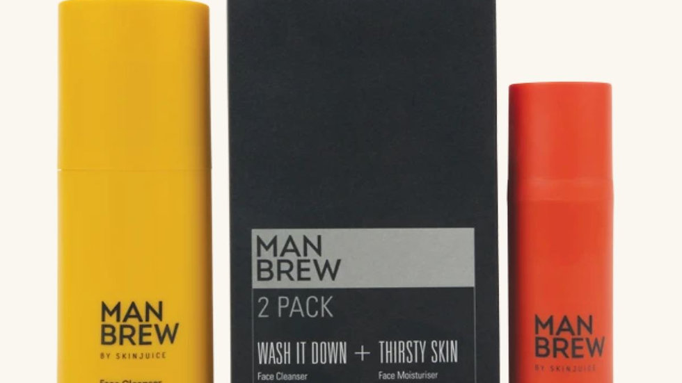 Man Brew 2 Pack - Cleanser + Moisturiser