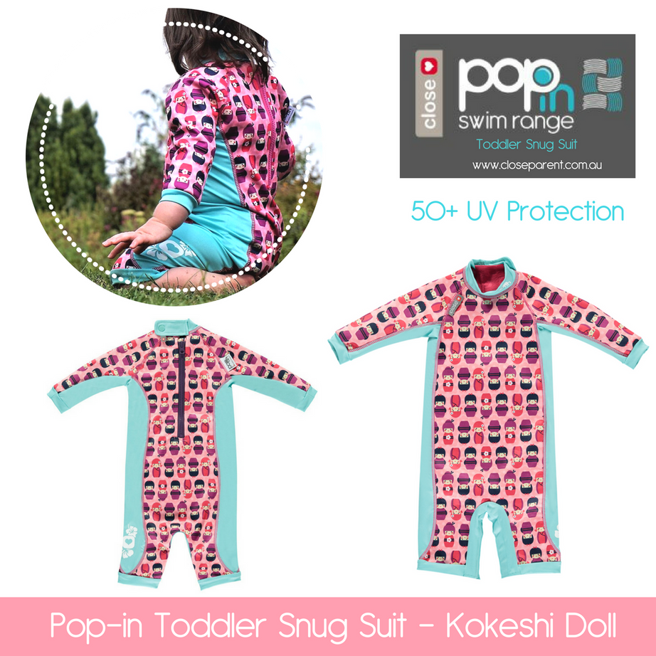 Pop in toddler snug swim suit kokeshi do