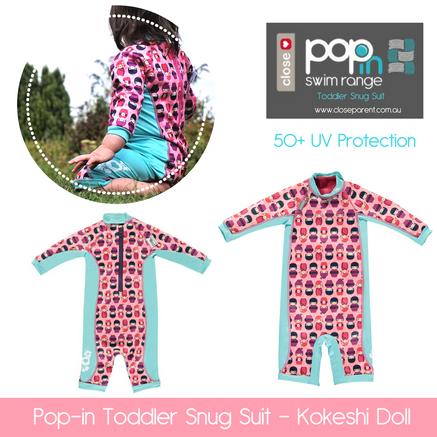 Pop in toddler snug swim suit kokeshi do