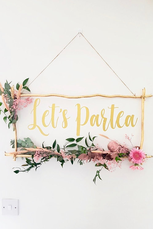 Let's Partea Wall Decal