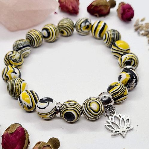 Yellow Malachite Bracelet