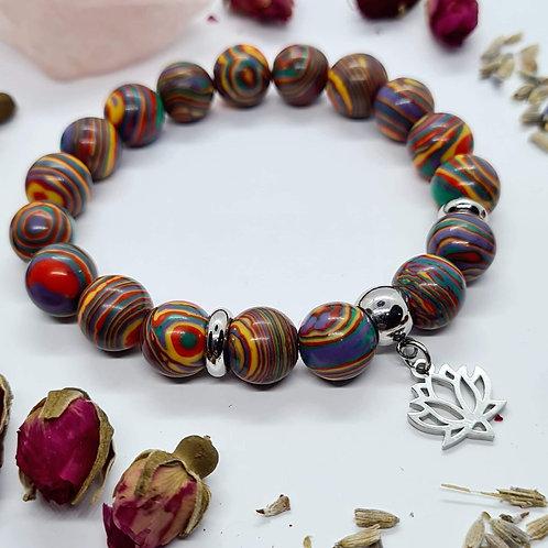 Rainbow Malachite Bracelet