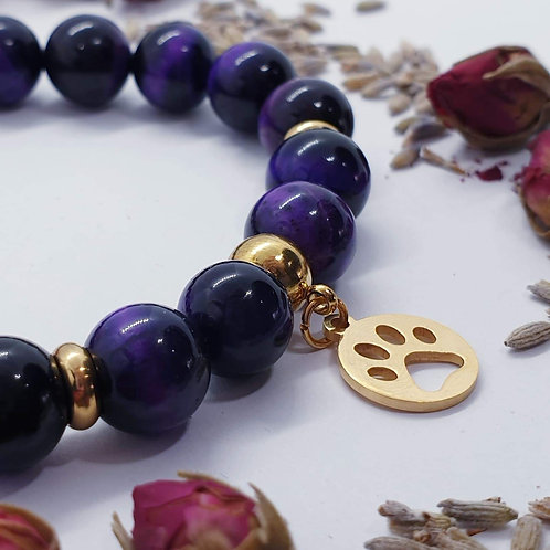 Purple Tigers Eye Bracelet