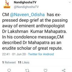 Nandighosha tweet
