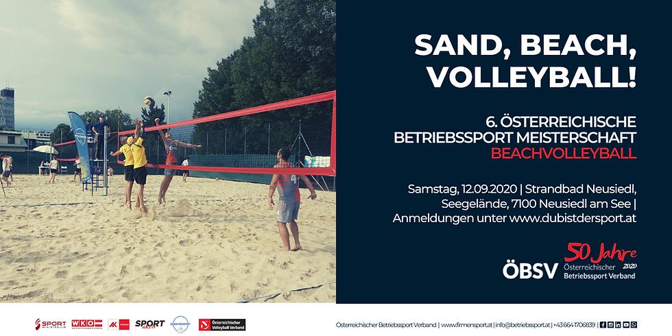 Österreichische Betriebssport Meisterschaft Beachvolleyball 2020
