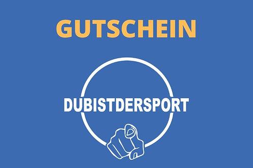 EUR 100,- DUBISTDERSPORT Geschenkgutschein