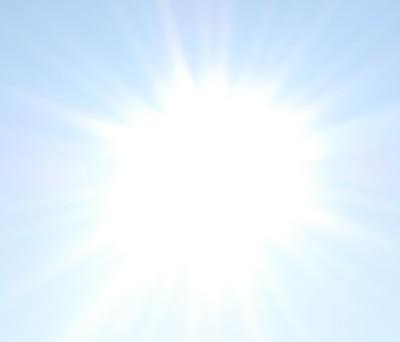 Sola skinner og jeg er så glad!