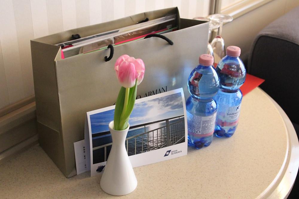...og vi fikk en goodiebag med danske go'saker!