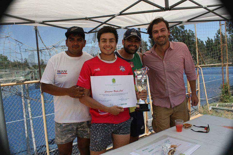 Capitan Carneros RC con la copa de Campeon circuito seven ARUSE 2019