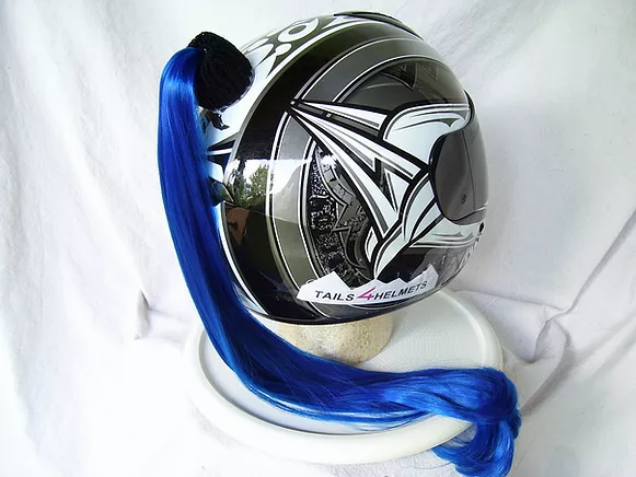 Helmet Ponytail Blue