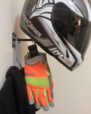 Gear Hangers / Helmet, Jacket Display and Storage