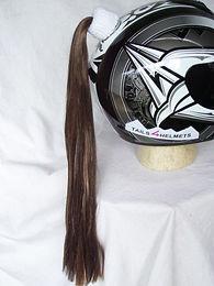 """Brown Helmet Ponytail 24"""""""