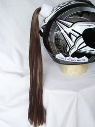 Brown Helmet Ponytail 24""