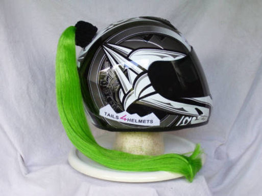 "Green Helmet Ponytail 24"""