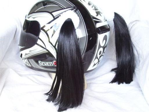 """Helmet Pigtails.   2 @ 14""""ea."""