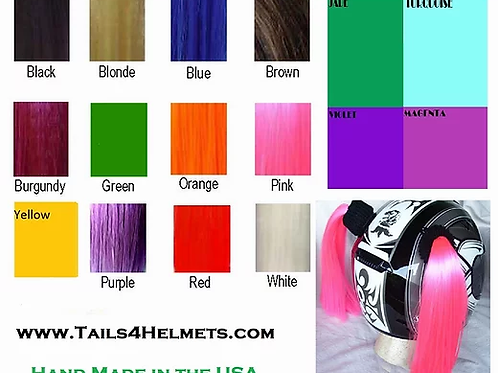 Helmet Pigtails  /  12 Colors