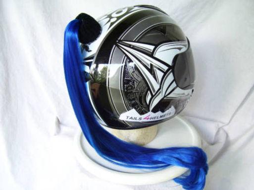 "Blue Helmet Ponytail 24"""