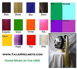 "24"" Helmet Pony Tails 17 Colors"