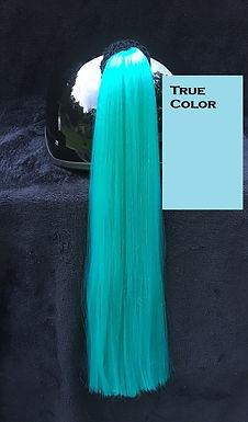 "Turquoise Helmet Ponytail 24"""